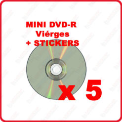 5 Mini DVD R 1.4 Go 8 cm vierges compatibles gamecube
