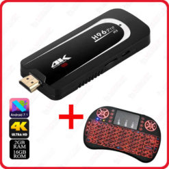 Pack boitier H96 Pro H3 Dongle smart android tv box 4K IPTV + clavier I8